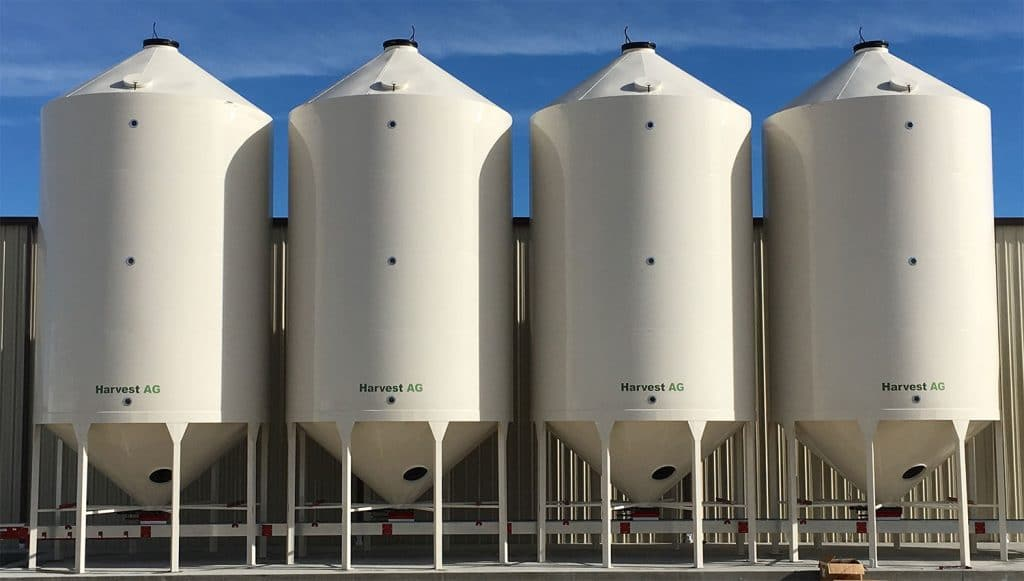 4100bushel smooth wall bins